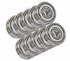 698ZZ 8x19x6 Shielded Miniature Bearing Pack of 10