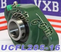 "1"" Bearing UCFL205-16 + 2 Bolts Flanged Cast Housing Mounted Bearings"