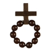 Decade Rosary Brown wooden beads