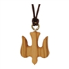 Olive Wood Dove Pendant Brown String 13 inches