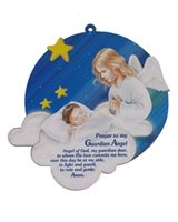 Guardian Angel Wall Plaque - Blue