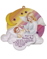 Guardian Angel Wall Plaque - Pink