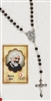 ST PIO Relic Rosary & Relic Prayer Card