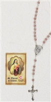 ST THERESE Relic Rosary & Relic Prayer Card