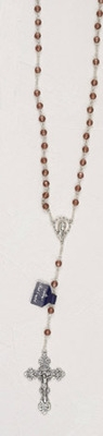 Genuine Crystal Birth Stone Rosary-June