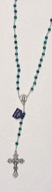 Genuine Crystal Birth Stone Rosary- December