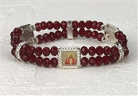 Genuine Crystal Double Stand Bracelets-Sacred Heart