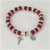 Crystal Rosary Bracelet-Red