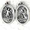 Guardian Angel and St. Michael Double Sided Medal