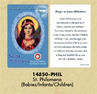 Healing Saints Relic Cards - St. Philomena