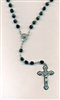 6mm Black Glass Rosary