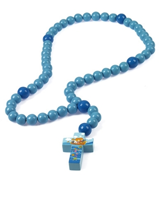Large Wood Baby Rosary Noahs Ark