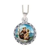 Saint Anthony Silver medal and chain