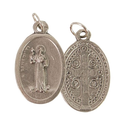 """St Benedict"" Oxydized Medal"