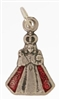 Infant Jesus of Prague Red and Oxidized Medal