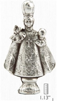Infant Jesus of Prague Metal Statuette