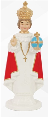 Infant of Praque Car Statue Pearly  and Coloured
