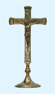 "Brass Table Cross 10.5"" x 4.75"""