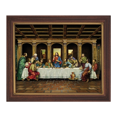 Last Supper Framed