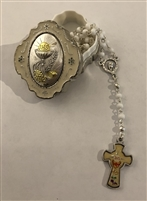 Communion Box Silver with Rosary
