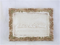 Last Supper Plaque, Antiqued Alabaster, 7x5""