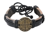 Leather St. Benedict Rope Bracelet