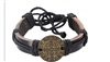 Leather St. Benedict Bracelet(Black)