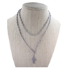 Gray Corded Rosary Necklace/Bracelet