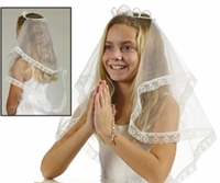 First Communion Veil - Crown of Pearl