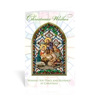 Holy Family Christmas Wishes Christmas Card