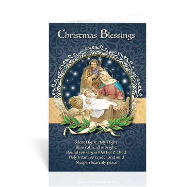 Holy Family Christmas Blessings Christmas Card
