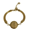 21 cm Saint Benedict Bracelet Gold Finish Stainless Steel