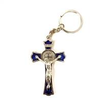 Saint Benedict Key Chain Blue
