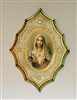 Immaculate Heart of Mary Florentine Plaque, 7.5x10.5""