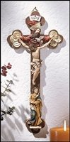 Mary and Trinity Crucifix 10 inches