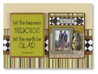 Rejoice Inspirational Photo Magnet