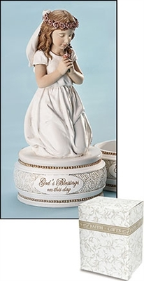 First Communion Kneeling Girl Figurine