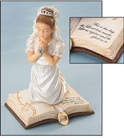 Praying Girl on Bible