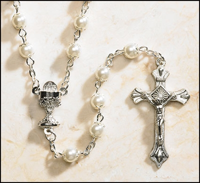 First Communion Pearl Rosary