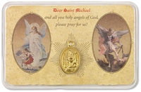 Prayer Card of Guardian Angel and Saint Michael