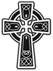 Celtic Cross Window Cling