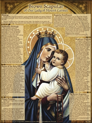 Brown Scapular Explained Poster