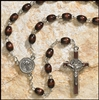 Brown Wood Saint Benedict Rosary