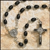 Black Wood Saint Benedict Rosary