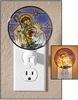 Holy Family Night Light in Stained Glass