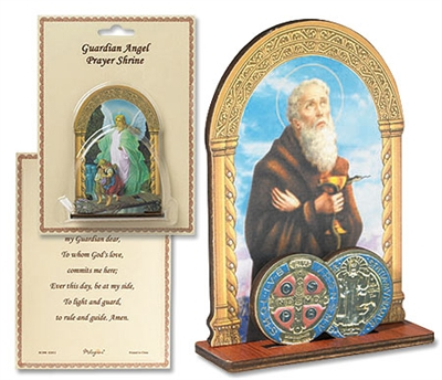 Saint Benedict Prayer Shrine