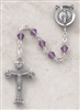 Genuine Silver-Plated Pewter Amethyst Rosary