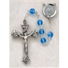 Genuine Silver-Plated Pewter Sapphire Rosary