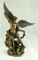 St. Michael, Cold-Cast Bronze, Lightly Hand-Painted, 10""