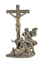 Crucifixion Masterpiece, Cold-Cast Bronze, Lightly Hand-Painted, 11""